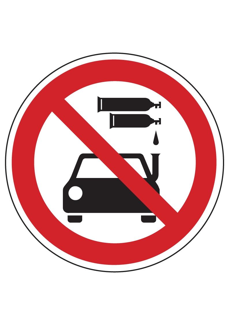 forster online shop einfahrt f r fl ssiggasbetriebene kraftfahrzeuge verboten online kaufen. Black Bedroom Furniture Sets. Home Design Ideas