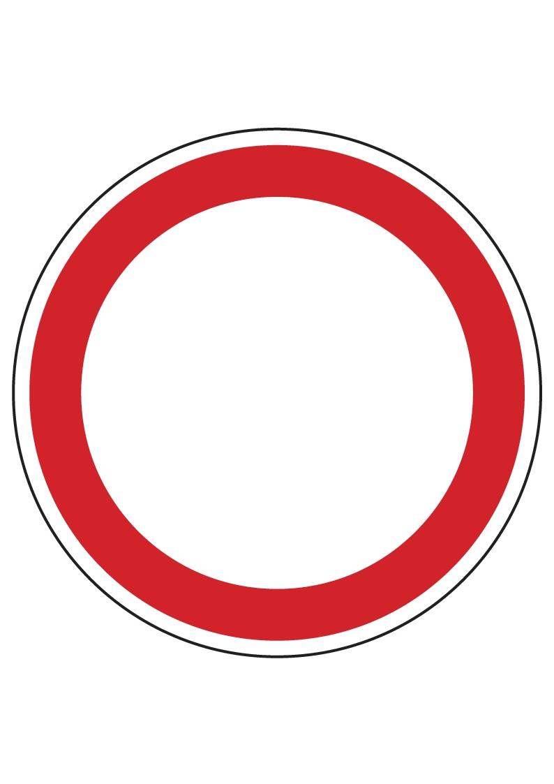Forster Online-Shop | Verbotsschild rund (leer) | online kaufen