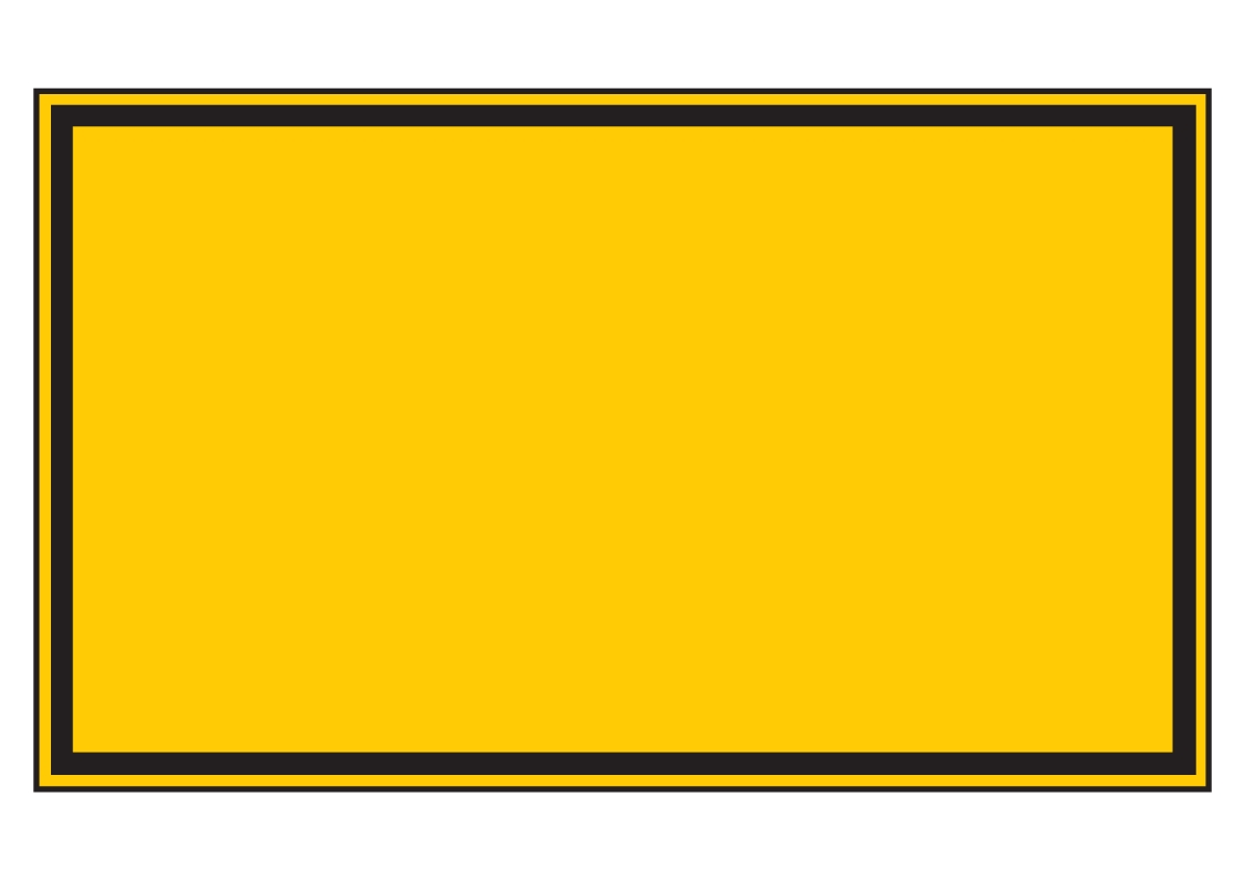 Forster Online-Shop | Warnschild gelb (leer) | online kaufen
